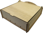 e-Raptor Trading Card Storage Big Box - Wooden