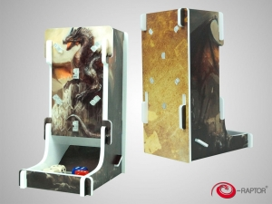e-Raptor Dice Tower Cuboid FullPrint Dragon Guardian