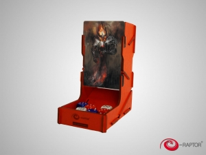 e-Raptor Dice Tower swap! Red with Doom Bringer artwork