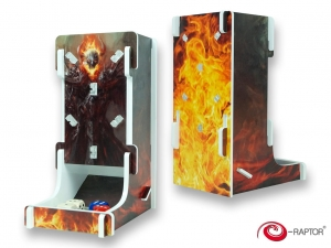 e-Raptor Dice Tower Cuboid FullPrint Fire Revenant