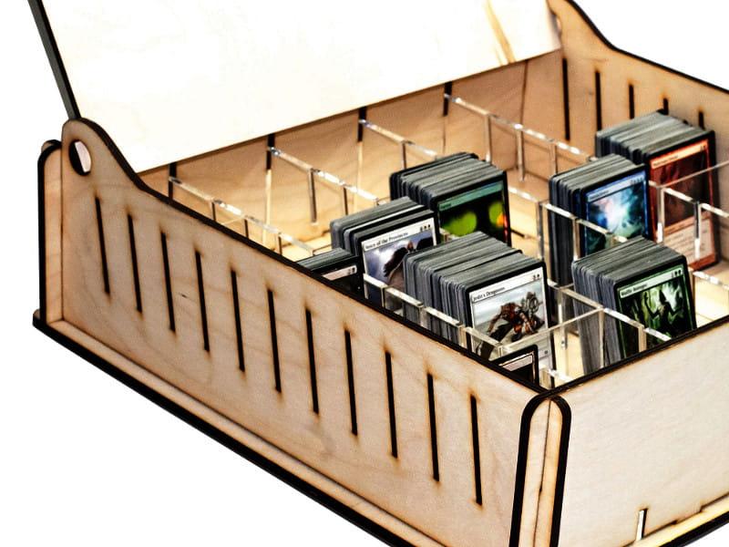 Trading Card Storage Box Wooden E Raptor Pl