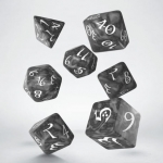 Q-Workshop Classic RPG Smoky & white Dice Set