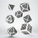 Q-Workshop Dwarven White & black Dice Set