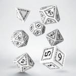 Q-Workshop Runic White & black Dice Set
