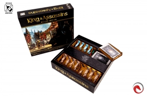 board game King and Assassins Deluxe + sleeved cards + insert