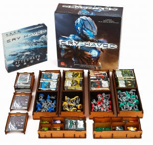 board game Cry Havoc + expansion + sleeved cards + insert