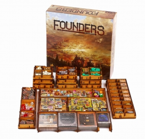 board game Founders of Gloomhaven + sleeved cards + insert