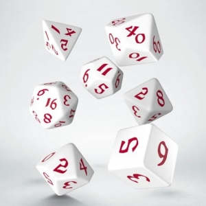 Q-Workshop Classic Runic White & red Dice Set