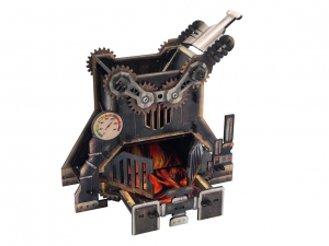 e-Raptor Steam Punk Furnace Dice Tower (UV PRINT)
