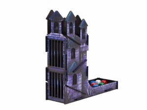 e-Raptor Dice Tower Castle FullPrint Blue (UV PRINT)
