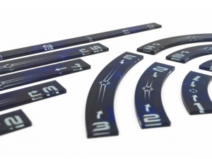 e-Raptor Rulers Set SWX Blue Upgraded